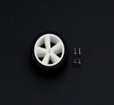 TT모터용 D80mm 실리콘 휠 / D80mm Silicone Wheel For TT Motor [FIT0500]